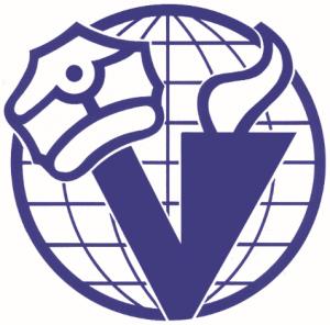 Liiton tunnuksessa rintamamiehen lakki on nostettu vasempaan V:n (V= veteraani) sakaraan sotien päätyttyä. Rauhansoihtu kertoo liiton yhteistyöstä maailman veteraanijärjestöjen kanssa. Maapallo kuvaa toivetta julistaa rauha koko maailmaan.